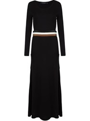 Gloria Coelho Knit Long Dress Black