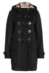 Burberry Brit Finsdale Wool Duffle Coat Black