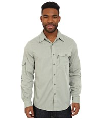 Royal Robbins Vista Long Sleeve Shirt Julep Men's Long Sleeve Button Up Green