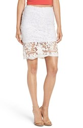 4Si3nna Women's Lace Overlay Skirt