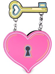 Yazbukey Heart And Key Clutch Pink And Purple