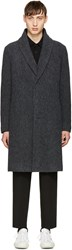 Issey Miyake Men Grey Wool Boucle Coat