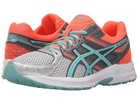 Asics Gel Contend 3 Silver Pool Blue Flash Coral Women's Running Shoes Gray