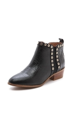 Yosi Samra Devin Booties With Grommets Black