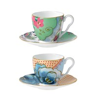 Wedgwood Butterfly Bloom Espresso Cup And Saucer Set Of 2