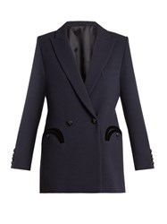 Blaze Milano Everyday Resolute Wool Blazer Navy Multi