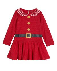 Petit Lem Christmas Printed Long Sleeve Nightgown Red
