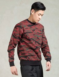 Black Scale Red Camo Crewneck Sweatshirt