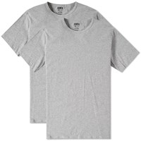 Edwin Crew Neck Double Pack Tee Grey
