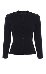 Karen Millen Lace Shoulder Cardigan Black