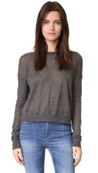 Helmut Lang Frayed Cashmere Sweater Charcoal