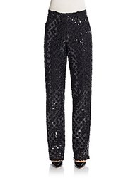Marc Jacobs Oversized Sequin Eyelet Pants Black