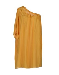 Laneus Short Dresses Yellow