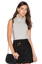 Central Park West Vienna Cashmere Sleeveless Sweater Light Gray