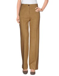 Mp Massimo Piombo Trousers Casual Trousers Women Sand