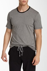 Daniel Buchler Short Sleeve Crew Neck Tee Gray