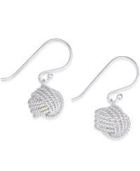 Giani Bernini Love Knot Drop Earrings In Sterling Silver