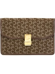 Celine Vintage Envelope Clutch Brown