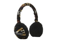 Pendleton Knit Ear Muffs Diamond River Black Knit Hats