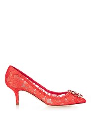 Dolce And Gabbana Bellucci Embellished Lace Pumps