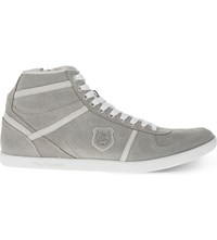 The Kooples Suede High Top Trainers Grey