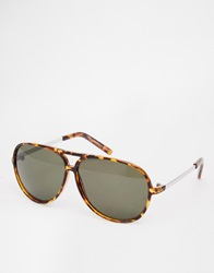 New Look Plastic Aviator Sunglasses Dkbrown