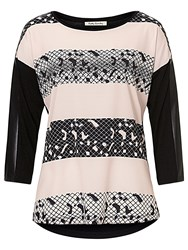 Betty Barclay Embellished Printed Top Black Beige