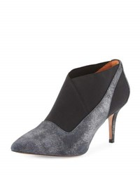 L' Amour Des Pieds Kamea Leather Stretch Pump Gray Metallic