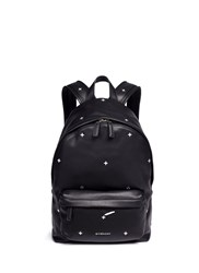 Givenchy Small Cross Stud Leather Backpack Black