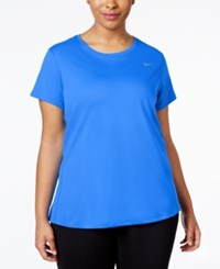 Nike Plus Size Dri Fit T Shirt Bright Blue