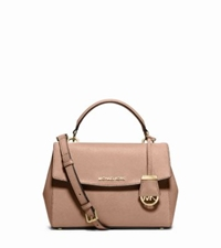 Michael Kors Ava Small Saffiano Leather Satchel Blush