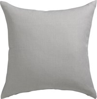 Cb2 Linon Grey 20'' Pillow With Feather Insert