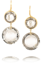 Marie Hela Ne De Taillac 18 Karat Gold Quartz Earrings