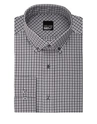 William Rast Checkered Long Sleeve Cotton Blend Shirt Grey