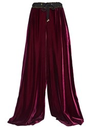 Lanvin High Waisted Velvet Palazzo Pants