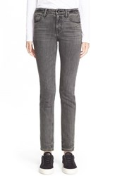 Women's Helmut Lang Skinny Ankle Jeans Light Grey