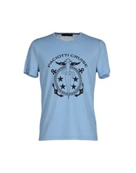 Cesare Paciotti 4Us Topwear T Shirts Men Sky Blue