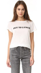 A Fine Line 'Out To Lunch' Tee White