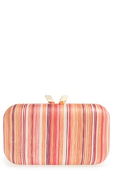 Big Buddha Stripe Clutch Pink Multi