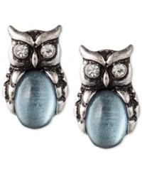 Lonna And Lilly Silver Plated Owl Stud Earrings