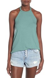 Women's Soprano Ribbed High Neck Tank Catalina