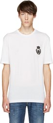 Dolce And Gabbana White Bee Crown T Shirt