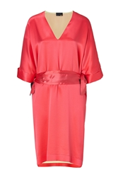 Fendi Lipstick Pink Silk Kaftan Dress