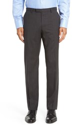 Boss Men's 'Leenon' Flat Front Check Stretch Wool Trousers