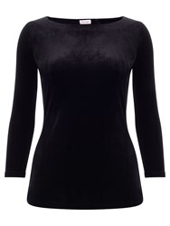 Phase Eight Ismay Velvet Top Black