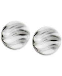 Nambe Rippled Disc Stud Earrings In Sterling Silver Only At Macy's