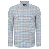 John Lewis Mini Tattersal Oxford Check Shirt Natural Multi