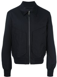 Juun.J Pointy Collar Bomber Jacket Blue