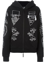 Haculla Embroidered Doodle Hoodie Black