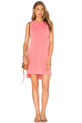 Sundry Sleeveless Shift Dress Coral